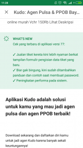 <The Latest Release Update that highlighted my revamp in the Kudo Mobile App>